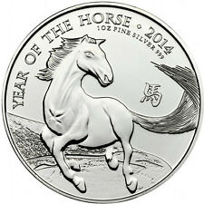 2014 £ 2 Pounds Royal Mint Lunar Year of the Horse 1 oz .999 Silver Coin