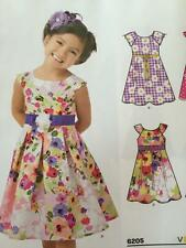 New Look Sewing Pattern 6205 Childs Girls Dress Size 3-8 New