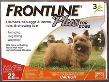 Frontline Plus For Dog 5-22 lbs (up to 10 kg) 3 MONTHS (Doses) Flea Control