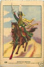 GUIDES DE MORTIER CAPITAINE EMPIRE NAPOLEON IMAGE CARD 1950 COSTUME MILITAIRE