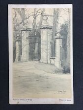 Vintage Postcard : Cambridge: #T11: Clare Gate To Backs: Walter M Keesey