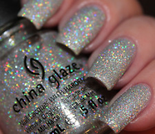 China Glaze Limited Edition Rare Holo Glitter Polish Glistening Snow SHIPS FREE!