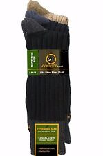 GOLD TOE MEN's Casual Crew Socks Extended Size XL 13-15  3 Pair Pack  NEW