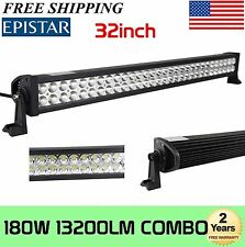 32in 180W LED Work Light Bar Spot Flood Combo 4WD Jeep Offroad Fog Driving Lamp