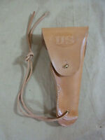US ARMY WW2 Leather Belt Holster Colt 1911 Government Lederholster 45er brass
