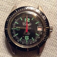 AWESOME VINTAGE SWISS MADE CHALET WINDUP DIVERS WATCH.WORKS AND LOOKS GREAT!