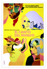 "Cuban movie Poster for film""WORLD Song""Deveuve.French..Decorative design"