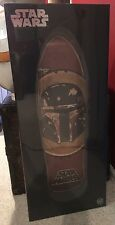 Santa Cruz Star Wars Boba Fett Etched Wood Inlay Skateboard Deck 31.0x10.35 Inch