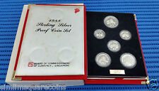 1988 Singapore Sterling Silver Proof Coin Set (1¢ - $1 Coin)