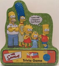 The Simpsons Trivia Game 2000 Tin Complete w/ Character Cast Poster