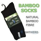 NEW 3 PAIRS BAMBOO HEAVY DUTY WORK SOCKS MENS THICK BLACK 6-11 11-14 KING SIZE
