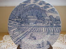 """American Atelier At Home Farmers In The Field Blue Toile 5217 Salad Plate 8 1/2"""""""
