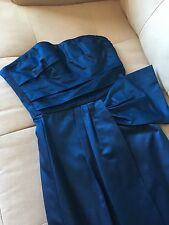 BCBG Max Azria Ink Navy Formal Party Evening Ballroom Wedding Prom Gown 0 $338