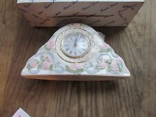 Princess House Porcelain Mantle Clock, Mint in box #280