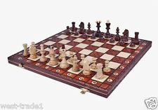 Brand New ♞ Hand Crafted Senator Wooden Chess Set 42cm x 42cm ♔Weighted Pieces♛