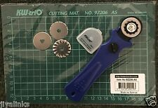 3 IN 1 KW-triO 28mm Rotary Cutter + 3 BLADE + A5 Self Healing Grid Cutting Mat
