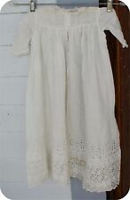 Antique christening gown  lace eyelet gorgeous  victorian baby dress nice
