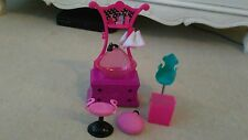Barbie hair salon /hairdreesser accessories bundle chair stool shower sink