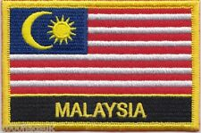 Malaysia Flag Embroidered Patch Badge - Sew or Iron on