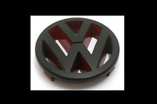 Matte Black Red Front Grille Emblem Badge For VW Golf MK5 GTI 2.0T Fast FSI