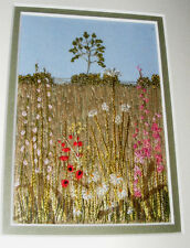 BEAUTIFUL ARTIST HAND EMBROIDERED, EMBROIDERY PICTURE STUMPWORK LANDSCAPE OOAK