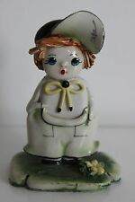Petite Statuette Céramique Enfant Poulbot Signature à identifier n°1