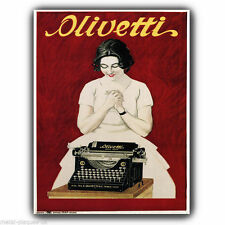 METAL SIGN WALL PLAQUE OLIVETTI TYPEWRITER Vintage Retro advert poster art print
