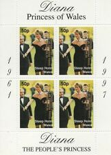 LADY DIANA PRINCESS OF WALES OVERPRINT STEEP HOLM WALES MNH STAMP SHEETLET