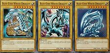 YuGiOh LDK2-ENK01 BLUE-EYES WHITE DRAGON 1st Edition Mint 3 CARD SET & bonus