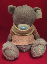 "ME TO YOU BEAR TATTY TEDDY X LARGE 24"" KNIT JUMPER & SNOOD BOW PLUSH GIFT"