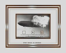 USA THE HINDENBURG speck of it's fabric skin, duralumin + envelope post  - COA