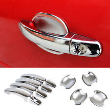 Fit For 05-11 Ford Focus 2 Mk2 Chrome Door Handle + Bowl Cover Trim Cup Garnish