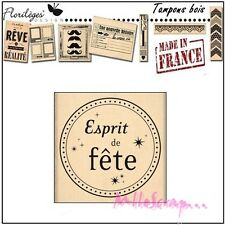 *TAMPON BOIS FLORILEGES DESIGN ESPRIT DE FETE SCRAPBOOKING CARTE DECORATION*