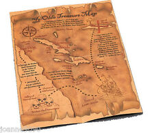 Old Pirate Treasure Map Party Loot Bag Top Prop Fancy Dress Costume Accessory BN