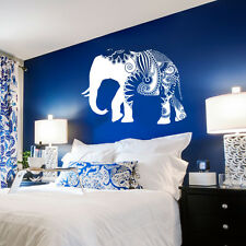 Wall Decal Vinyl Sticker  Mural Ganesh Om Elephant Aztec Pattern Damask r679