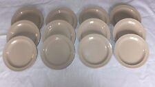 """Set of 12 Vintage Tar-Hong Tan Beige Color Melamine/Melmac 6.5""""  Side Plates"""