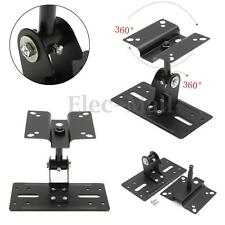 Theater Steel Adjustable Speaker Ceiling Stand Wall Mount Brackets 15kg Loading