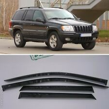 For Jeep Grand Cherokee 99-04 Window Side Visors Sun Rain Guard Vent Deflectors