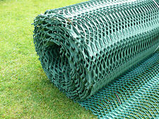 GR Heavy Grass Reinforcement 1m x 10m  x 14mm thick roll Green PLUS 25 U PINS