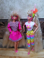 Totally Hair Barbie doll lot of two blonde long hair beautiful!