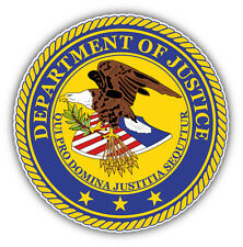 Justice Department Seal USA Car Bumper Sticker Decal 5'' x 5''