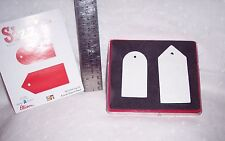 SIZZIX DIE CUTTERS: SET OF 2  TAGS 38-0236 PAPER - SCRAP BOOKING - CRAFTS ART