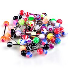 20/lot premium Tongue Tounge Nipple Ear Ring bars BARBELL BODY PIERCING JEWELRY
