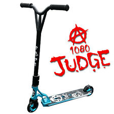 1080 Judge Stunt Scooter For Kids With Alloy Custom Deck - Black & Blue/White