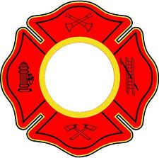 Cornhole board game firefighter maltese circles decals