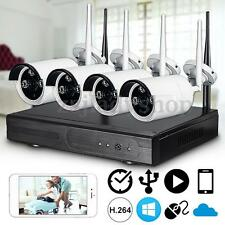 720P Wireless 4CH NVR IP CCTV Surveillance Security System WIFI Network Camera