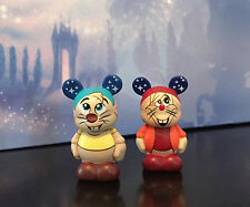 "DISNEY VINYLMATION 1.5"" CINDERELLA CLOCK STRIKES TWELVE GUS & JAQ MOUSE MICE SET"