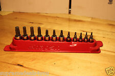 SNAP ON TOOLS 12PCS TORX BIT SOCKET DRIVER SET 1/4DR & 3/8DR T8-T25 212EFTXY