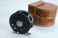 "(E) HARDY The ""St George Junior"" 2 9/16"" Fly Reel w/Leather Case Limited Ed"