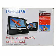 Philips Dvd Players Portable Lcd Two Widescreens Cd Dual Screen Refurbished